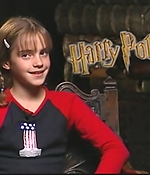 emma watson, screen capture, interview, 2001, harry potter