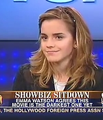 emma watson, screen capture, interview, 2005, harry potter